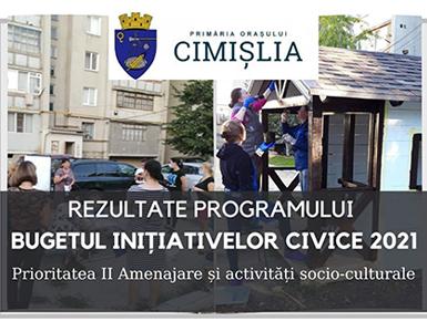 Rezultatele proiectelor depuse pentru amenajare și activități socio-culturale în orașul Cimișlia